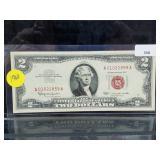1963 Red Seal $2 Dollar Bill