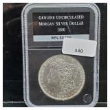 1880 Gem UNC 90% Silver Morgan $1 Dollar