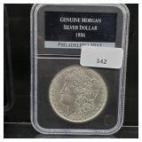 1886 Gem UNC 90% Silver Morgan $1 Dollar