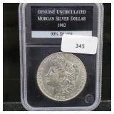 1902 Gem UNC 90% Silver Morgan $1 Dollar