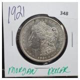 1921 90% Silver Morgan $1 Dollar