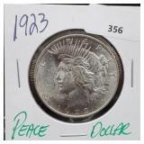 1923 90% Silver Peace $1 Dollar