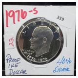 1976-S 40% Silver Proof Ike $1 Dollar