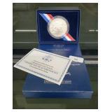 2007 UNC 90% Silver Jamestown 400th Ann $1 Dollar