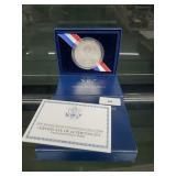 2009 UNC 90% Silver Lincoln Comm $1 Dollar