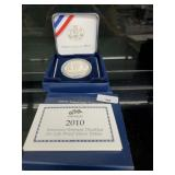 2010 Proof 90% Silver Amer Veterans Disabled $1