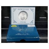 1982 UNC 90% Silver Washington Comm Half $1