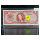 1964 Trinidad & Tobago One Dollar Bill