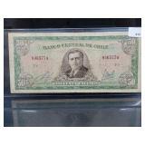 Bank of Chile 50 Escudos Bill