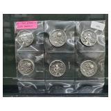 Six 1969 Apollo 11 Clad Medals