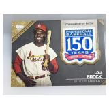 2019 Topps 150 Years Patch Lou Brock 6/50 AMP-LB