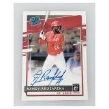 2020 Donruss Optic Randy Arozarena Signed Rated RC