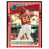 2020 Donruss Rated Rookie Pink Randy Arozarena RC