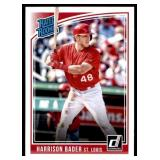 2018 Donruss Rated Rookie Harrison Bader RC