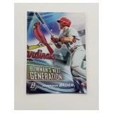 2018 Bowman Premium Next Generation Harrison Bader