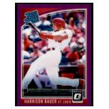 2018 Donruss Optic Rated RC Purple Harrison Bader