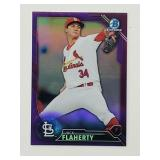 2016 Bowman Chrome Purple /250 Jack Flaherty RC