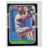 1987 Donruss Ricky Horton Signed Card