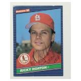 1986 Donruss Ricky Horton Signed Card