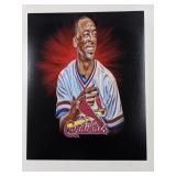 Willie McGee St Louis Cardinals Digital Art Print