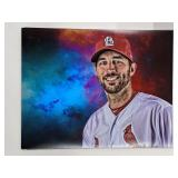 Adam Wainwright STL Cardinals Digital Art Print