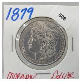1879 90% Silver Morgan $1 Dollar