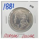 1881 90% Silver Morgan $1 Dollar