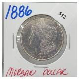 1886 90% Silver Morgan $1 Dollar