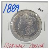 1889 90% Silver Morgan $1 Dollar