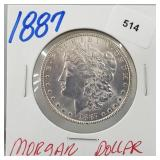 1887 90% Silver Morgan $1 Dollar
