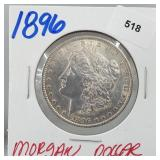 1896 90% Silver Morgan $1 Dollar