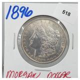 1896 90% Silver Morgan $1 Dollar
