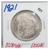 1921 90% Silver Morgan $1 Dollar