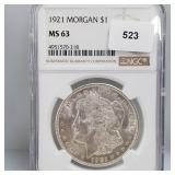 NGC 1921 MS63 90% Silver Morgan $1 Dollar