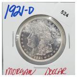 1921-D 90% Silver Morgan $1 Dollar