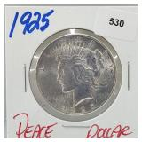 1925 90% Silver Peace $1 Dollar
