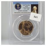 PCGS 2007-D MS65 John Adams $1 Dollar Coin