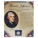 Jefferson $1 Dollar Coin & Postal Comm Page