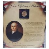 Adams $1 Dollar Coin & Postal Comm Page