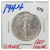 1944 90% Silver Walker half $1 Dollar
