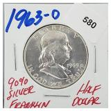 1963-D 90% Silver Franklin Half $1 Dollar