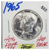 1965 40% Silver Proof JFK Half $1 Dollar