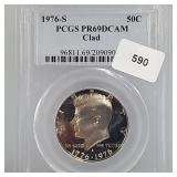 PCGS 1976-S PR69 DCAM Clad JFK Half $1 Dollar