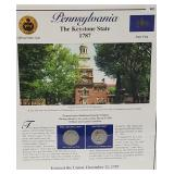 PA Statehood Quarter & Postal Commemorative Page