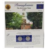 PA Statehood Quarter & Postal Commemorative Page