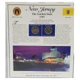 NJ Statehood Quarter & Postal Commemorative Page