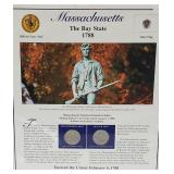 MA Statehood Quarter & Postal Commemorative Page