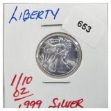 1/10oz .999 Silver Liberty