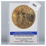 24K Gold Layered Gold Eagle Replica Medallion