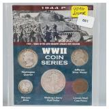1944-P WWII Coin Series w/90% Silver Coins